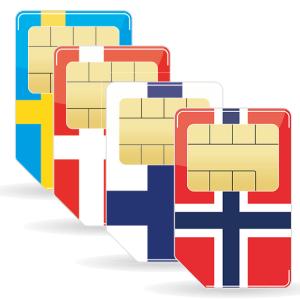 Skandinavien Simkarte